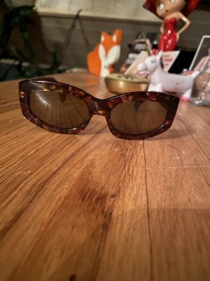 Kenzo Gafas Retro marrón-marrón oscuro