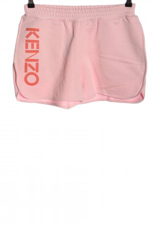 Kenzo Sportshort roze gedrukte letters casual uitstraling