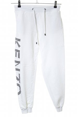 Kenzo Sweat Pants natural white-black printed lettering athletic style