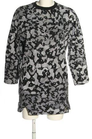 Kenzo Sweatkleid schwarz-weiß Allover-Druck Casual-Look