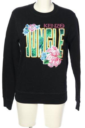 Kenzo Sweatshirt schwarz Motivdruck Casual-Look