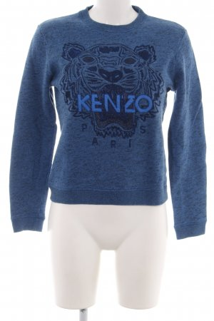 Kenzo Sweatshirt blau-schwarz meliert Casual-Look