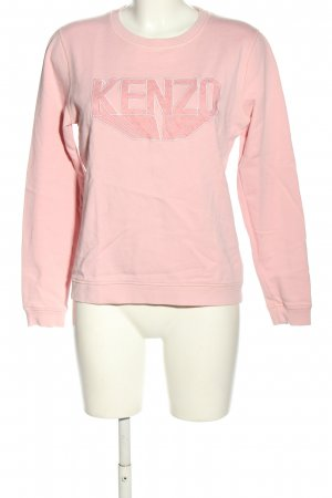 Kenzo Sweatshirt pink Schriftzug gedruckt Casual-Look