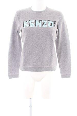 Kenzo Suéter gris claro moteado look casual