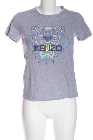 Kenzo Camiseta gris claro moteado look casual