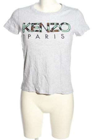 Kenzo T-Shirt hellgrau-schwarz meliert Casual-Look