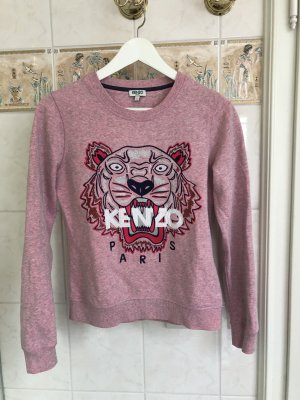 Kenzo Tiger Pullover rosa meliert