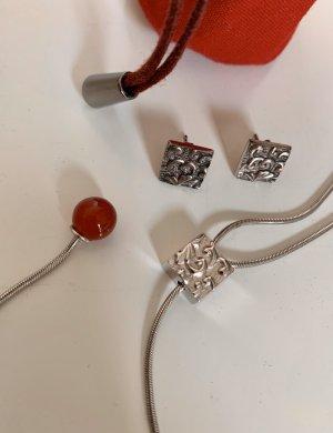 Kenzo | verstellbare Silberkette & passende Ohrringe