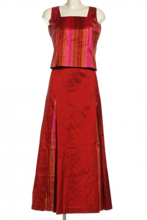Kenzo Ensemble tissé rouge-rose motif rayé élégant