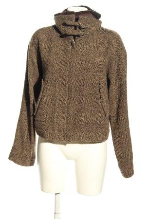 Kenzo Chaqueta de lana marrón-blanco puro look casual