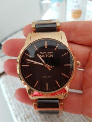Alexander Milton Reloj analógico negro-color oro