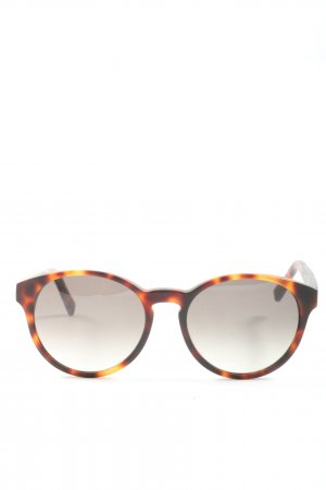 Kerbholz Oval Sunglasses brown-light orange allover print casual look