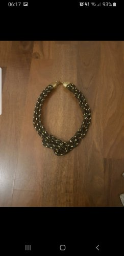 0039 Italy Chain Belt black-gold-colored