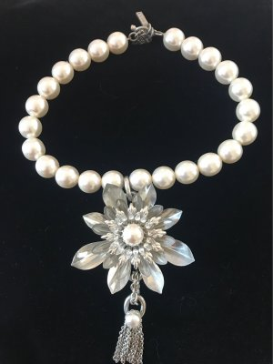 Otazu Pearl Necklace white-silver-colored