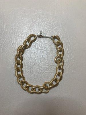 Naszyjnik piaskowy brąz-złoto