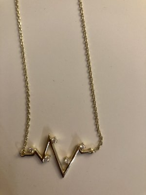 Kette 925 Sternling Silver Gold Plated Juwelkerze