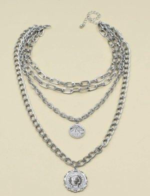 100% Fashion Chaîne en argent gris clair
