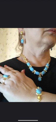 Collar color oro-azul