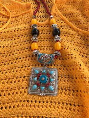 Handarbeit aus Tibet Naszyjnik Wielokolorowy