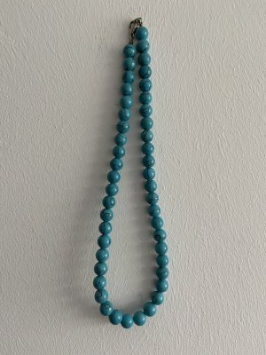 Collar de perlas turquesa