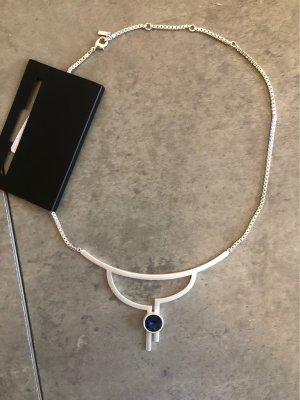 Pilgrim Chaîne en argent argenté-bleu foncé