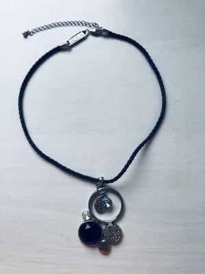 Biba Collier noir-bleu
