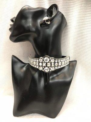 Christian Dior Collar color plata-negro