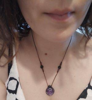 Kette Collier Halskette Hippie Boho Ethno Indie Tropfen Glitzer