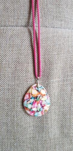 Naszyjnik biały-różowy