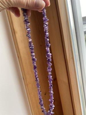 Naszyjnik jasny fiolet-ciemny fiolet