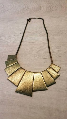 Collier incrusté de pierres doré