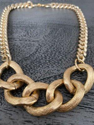 Vintage Collar estilo collier color oro metal