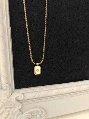 Kette gold Stern Amulett Halskette Schmuck