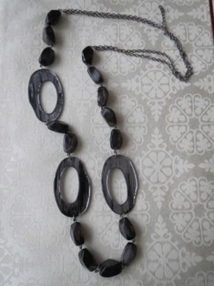 Kette, grau-schwarz, neu