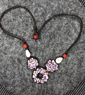 Kette Halbedelsteine zart lila Länge 45 cm