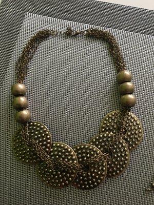 Necklace grey brown