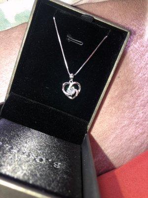 Kette Herz Damen Halskette 925 Sterling Silber