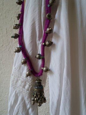 Collar color plata-lila