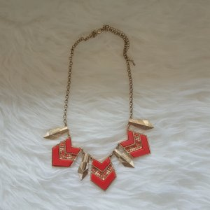 Kette in rot-gold Boho