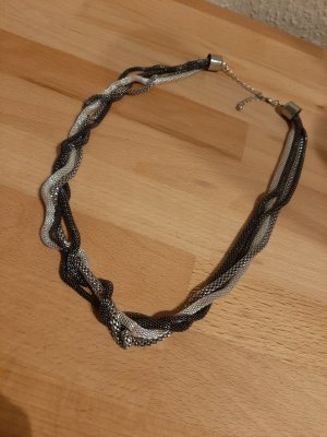 Necklace silver-colored-anthracite