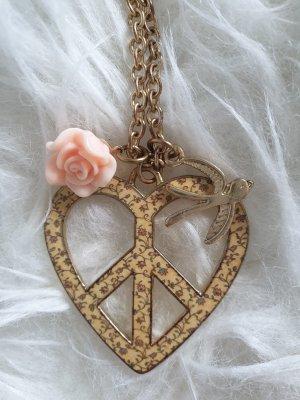 Kette lang Damenkette Herz gold von Primark