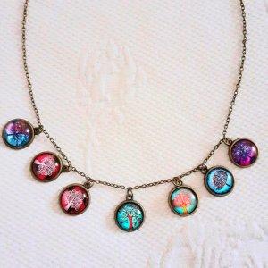 Etsy Collier incrusté de pierres multicolore