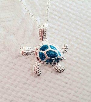 Vision Sea Life Catena d'argento argento-azzurro