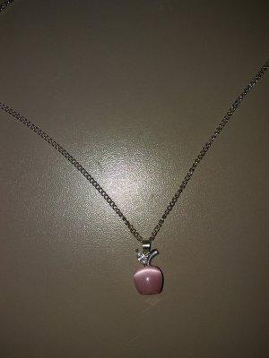 Zilveren ketting zilver-rosé