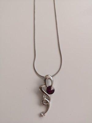 Chaîne en argent argenté-violet
