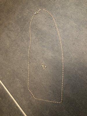 Złoty łańcuch złoto-w kolorze różowego złota