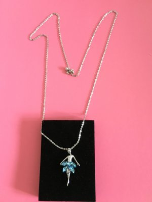 Chain light blue-silver-colored