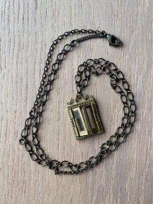Naszyjnik złoto-antracyt