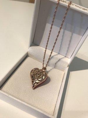 Kette mit Herzanhänger Rosegold