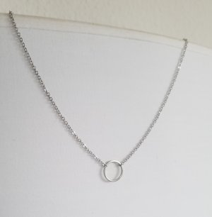 Hand made Link Chain silver-colored